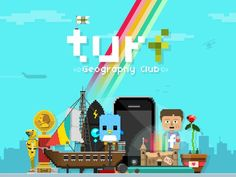 Turf Geography Club: An iPhone Game by Michael Tseng, via Kickstarter.