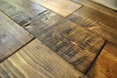 "Great tutorial on how to make new wood look old....gonna try this on my ""old"" barn door headboard!"