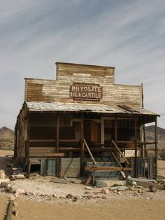 Ghost town of Rhyolite, Nevada. Rhyolite is in the Bullfrog Hills, about 120 miles northwest of Las Vegas, near the eastern edge of Death Valley. Abandoned Buildings, Abandoned Places, Abandoned Asylums, Abandoned Property, Death Valley, Old Western Towns, Western Homes, Westerns, Old West Town