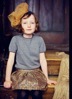 .brocade skirt and trim tee...