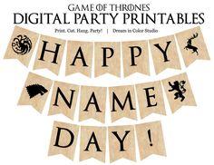 Juego de tronos día Digital Banner por dreamincolorstudio en Etsy