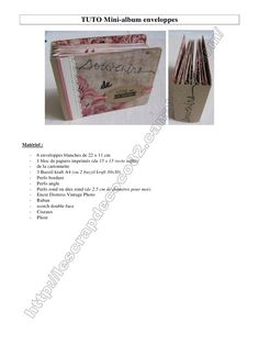 Fichier PDF 864.2 TUTO mini-album enveloppes.pdf Scrapbooking Mini Album, Scrapbook Albums, Minis, Mini Albums Scrap, Decoupage, Paper Crafts, Diy, Manualidades, Creative Cards