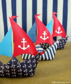 Nautical maritime sailboat birthday party ideas with lots of DIY decorations, party printables, sweet party food and favors! Party Printables, Party Kit, Party Ideas, Diy Ideas, Nautical Theme, Nautical Party Favors, Nautical Cake, 1st Birthday Parties, Summer Birthday