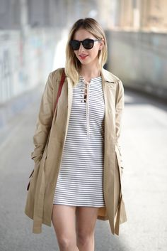 We just love Emily Schuman!   A cool update to a classic striped dress.