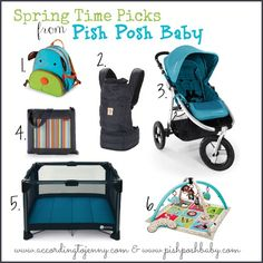 Win a $50 gift card to Pish Posh Baby via According to Jenny in the March Into Spring Giveaway Hop.