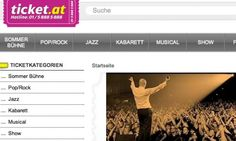 ticket.at / Startseite des Ticketing-Portales © echonet communication GmbH