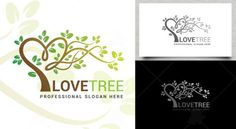 Love Tree Logo Tree Logos, Logo Templates, Slogan, Love, Graphics, Amor, Graphic Design, I Like You, Charts