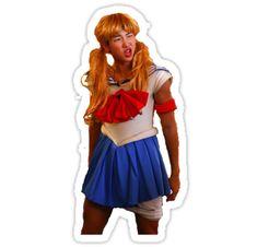 'Sailor Moon Rap Monster Namjoon Sticker' Sticker by CadeyNamjoon Pop Stickers, Meme Stickers, Tumblr Stickers, Printable Stickers, Sailor Moon, Bts Chibi, Tumblr Kpop, Icon Png, Kpop Diy