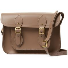 """The Cambridge Satchel Company Women's Small Leather 11"""" Satchel -... (345 BRL) ❤ liked on Polyvore featuring bags, handbags, cognac, satchel purses, brown satchel purse, genuine leather purse, brown leather satchel and brown satchel"""