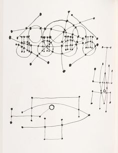 """The """"constellations drawings"""" are a series of sketches by Pablo Picasso drawn on sixteen pages of a notebook in 1924. For these small drawings in black pen and ink, Picasso took inspiration from sky charts and aimed at an artistic exploration of the limit between abstraction and figuration..."""