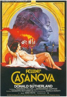 Il Casanova di Federico Fellini [Poster, 3 of 17 high-resolution movie posters in this group. 18 Movies, Movies To Watch, Movies Online, Donald Sutherland, The Image Movie, Love Movie, What Is Drama, Cinema Posters, Movie Posters