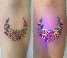 Floral piece done with UV ink, by Tukoi Oya, an artist based in Melbourne, Australia.
