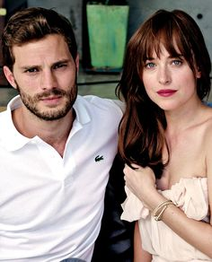 Jamie Dornan and Dakota Johnson looks absolutely stunning here. Love both their looks.  50 Shades of Christian and Ana