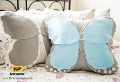 Modelos de almofadas - Almofada de Borboleta - Como ficou 2