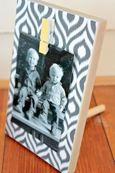 Scrap Wood Photo Blocks- easy DIY- Interchangeable- view from the fridge and Juggling Act Mama Creative Gifts #creativegifts #diygifts