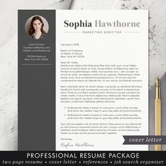 Diseño de plantilla de CV con foto palabra por TheShineDesignStudio