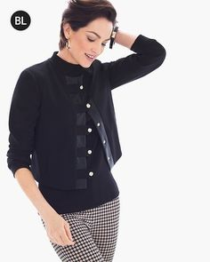 Chico's Petite Structured Hardware Jacket