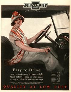 Chevrolet Lady Easy To Drive - Mad Men Art: The 1891-1970 Vintage Advertisement…