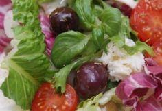 Mediterrán saláta | NOSALTY Mozzarella, Potato Salad, Salad Recipes, Salads, Tacos, Potatoes, Mexican, Beef, Dishes