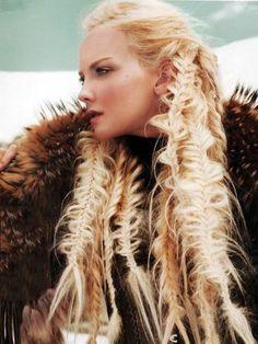 Nordic Celt hair (fishbone looking!)