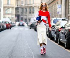 Modne spódnice - wiosna lato 2015, fot. Imaxtree Milan Fashion Weeks, Milan  Fashion 898bebae149