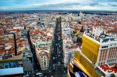 Vistas aéreas de Madrid Madrid, Barcelona, Times Square, Travel, Viajes, Barcelona Spain, Trips, Traveling, Tourism