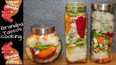 Λάχανο τουρσί πολίτικο σε πρωτότυπη εκτέλεση🌶🥕Pickled cabbage oriental🌶🥕... Fresh Rolls, Preserves, Pickles, Sushi, Mason Jars, Food And Drink, Cooking, Ethnic Recipes, Youtube