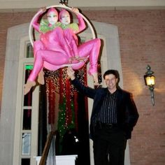 Two aerialists greet guests as they enter the party! Houston Wedding Entertainment, Company party, Gala, American Entertainment Company www.jdentertain.com