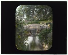 From the Frances Benjamin Johnston lantern slides collection at the Library of Congress: [George Fisher Baker house, Tuxedo Park, New York. Bridge]