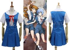 Neon Genesis Evangelion Eva Ayanami Rei Asuka Cosplay Costume Dress Uniform | eBay