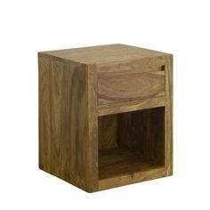 Made of Indian rosewood, this wooden bedside table with one drawer is classically simple, with modern clean lines and seamless detailing. Table, Retro Cupboards, Timber, Furniture, Storage Spaces, Wooden Bedside Table, Bedside, Wooden, Bedside Table