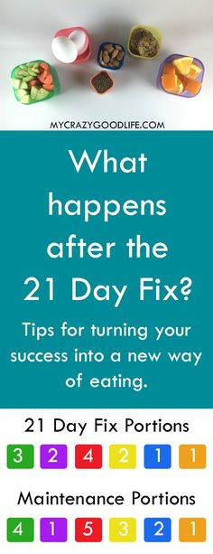 "What happens after the 21 Day Fix? It's no secret that I loved the 21 Day Fix as a sort of ""reset"" for the way I ate... but what happens after the 21 Day Fix is over? Do you go back to your old ways, commit to another round, or try to maintain a new way o"