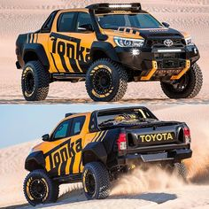 Toyota HiLux Tonka Concept 2017 Picape is the creation of the Australian Toyota in partnership with the brand of Tonka miniatures. The result is a 'toy pa . Toyota Hilux, Toyota Tundra Trd Pro, Toyota 4x4, Toyota Trucks, Toyota Cars, Diesel Trucks, Custom Trucks, Lifted Trucks, Pickup Trucks