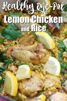 Clean Eating Recipes, Lunch Recipes, Meat Recipes, Real Food Recipes, Dinner Recipes, Fall Recipes, Lemon Chicken Rice, Easy Chicken And Rice, Easy Homemade Recipes
