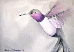 Flight of the Hummingbird  Art Print of My by paintedbliss on Etsy, $18.00