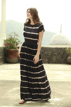 Congo Striped T- Shirt Maxi Dress by Shabby Apple