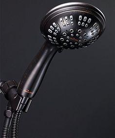 ShowerMaxx Shower Head Premium 6 Spray Settings | Luxury Spa Detachable Handheld Showerhead | Long Stretchable Stainless Steel Hose, Adjustable Mount & Teflon Tape | Oil Rubbed Bronze Hand Held Finish