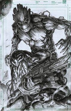 Rocket and Groot by Ryan Pasibe