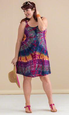 Sanibel Tie Dye Dress / MiB Plus Size Fashion for Women