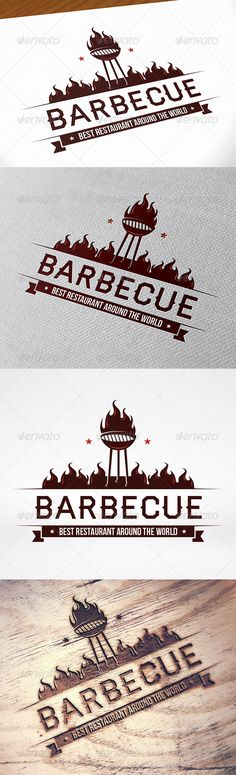 BBQ Logo Template — Vector EPS #grill #camp • Available here → https://graphicriver.net/item/bbq-logo-template/8612136?ref=pxcr