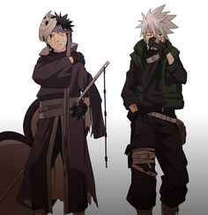 Uchiha Obito and Hatake Kakashi
