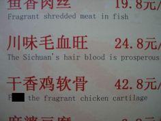 Scary menu
