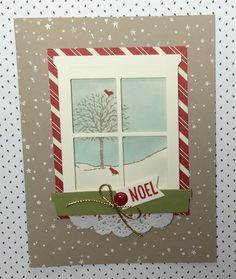 Delightful card using Stampin' Up!'s new Happy Scenes stamp set and the Hearth and Home Thinlits Dies.
