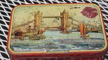 Vintage rare Riley's Toffee advertising tin Halifax, England