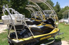 Custom Jetski outfitted for fishing