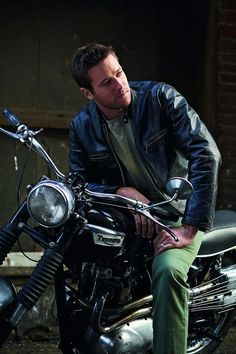 Armie Hammer ON A MOTORCYCLE. Reece. Motorcycle. I didn't need my feels anyway.
