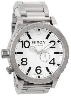 Nixon The 51-30 Tide Watch - Sanded Steel/White