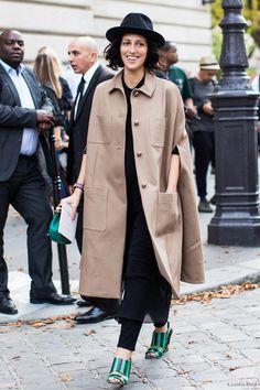 #streetstyle #streetfashion #style #fashion Street Style + Street Fashion Paris Fashionweek ss2015 day 5, outside Chloé, Yasmin Sewell