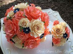Paper Bouquet Paper Flower Bouquet Wedding by morepaperthanshoes