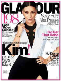 "Kim Kardashian Glamour interview: Talks Role Models, Bruce Jenner, Her ""Not Fake"" Marriage To Kris Humphries And More"